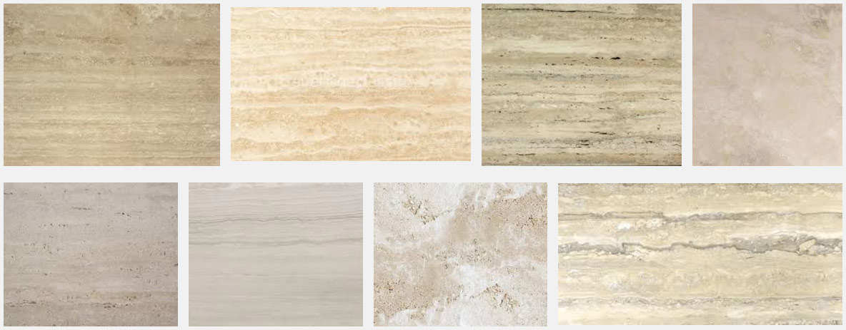 Beautiful travertine marble